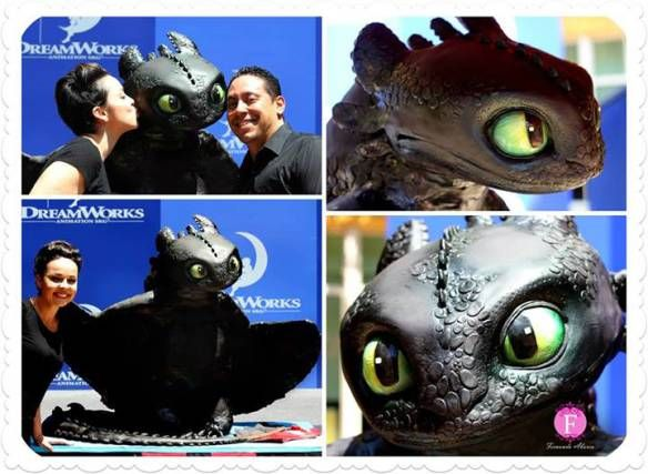 Toothless cake how to train your dragon 2