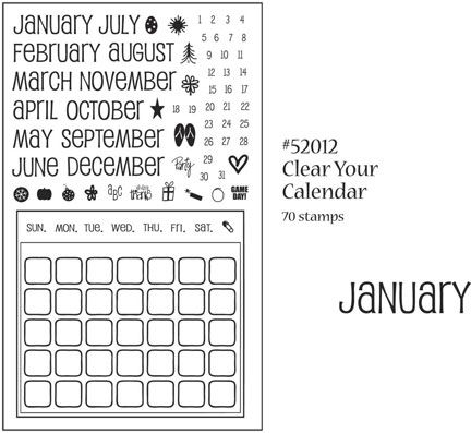 Inque Boutique See-D's Clear Stamps - Clear Your Calendar
