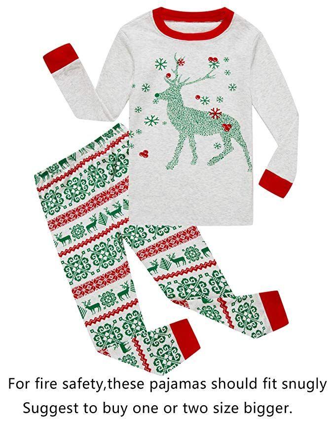 2db16df0da Family Feeling Baby Girls Boys Long Sleeve Christmas Pajamas Sets 100%  Cotton Pyjamas Toddler Infant Kids 18-24 Months Reindeer
