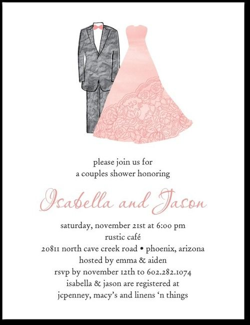 Designer Duo Studio Basics Bridal Shower Invitations in Posies – Wedding Paper Divas Bridal Shower Invitations