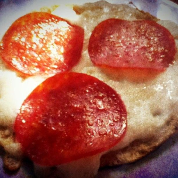 Joseph's Fuel Pull Pizza p280  I eat these often as they are quick and easy. Joseph's Pita Bread cut in half, topped with mozzarella & some pepperoni. YUM!