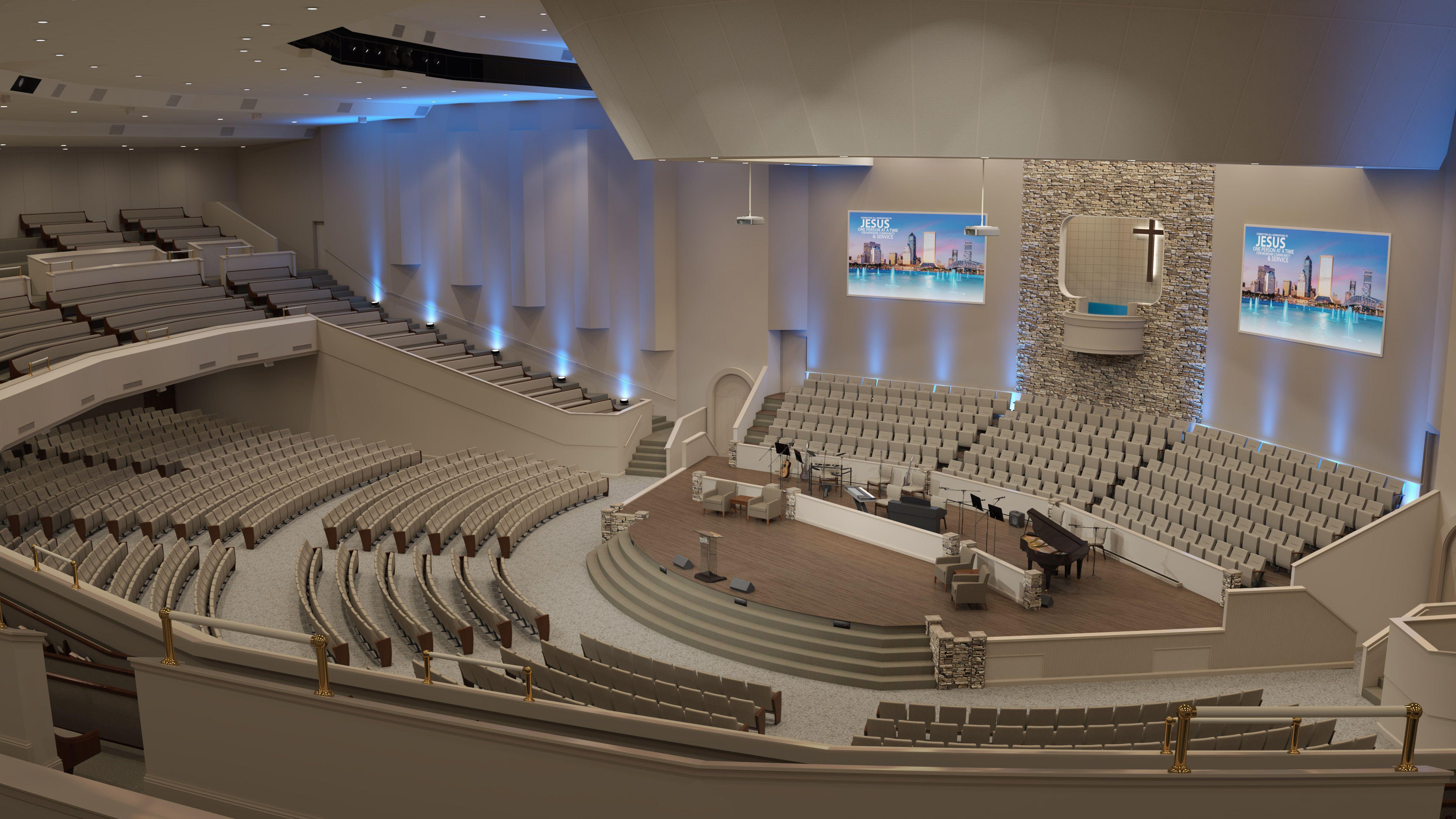 contemporary church interior design