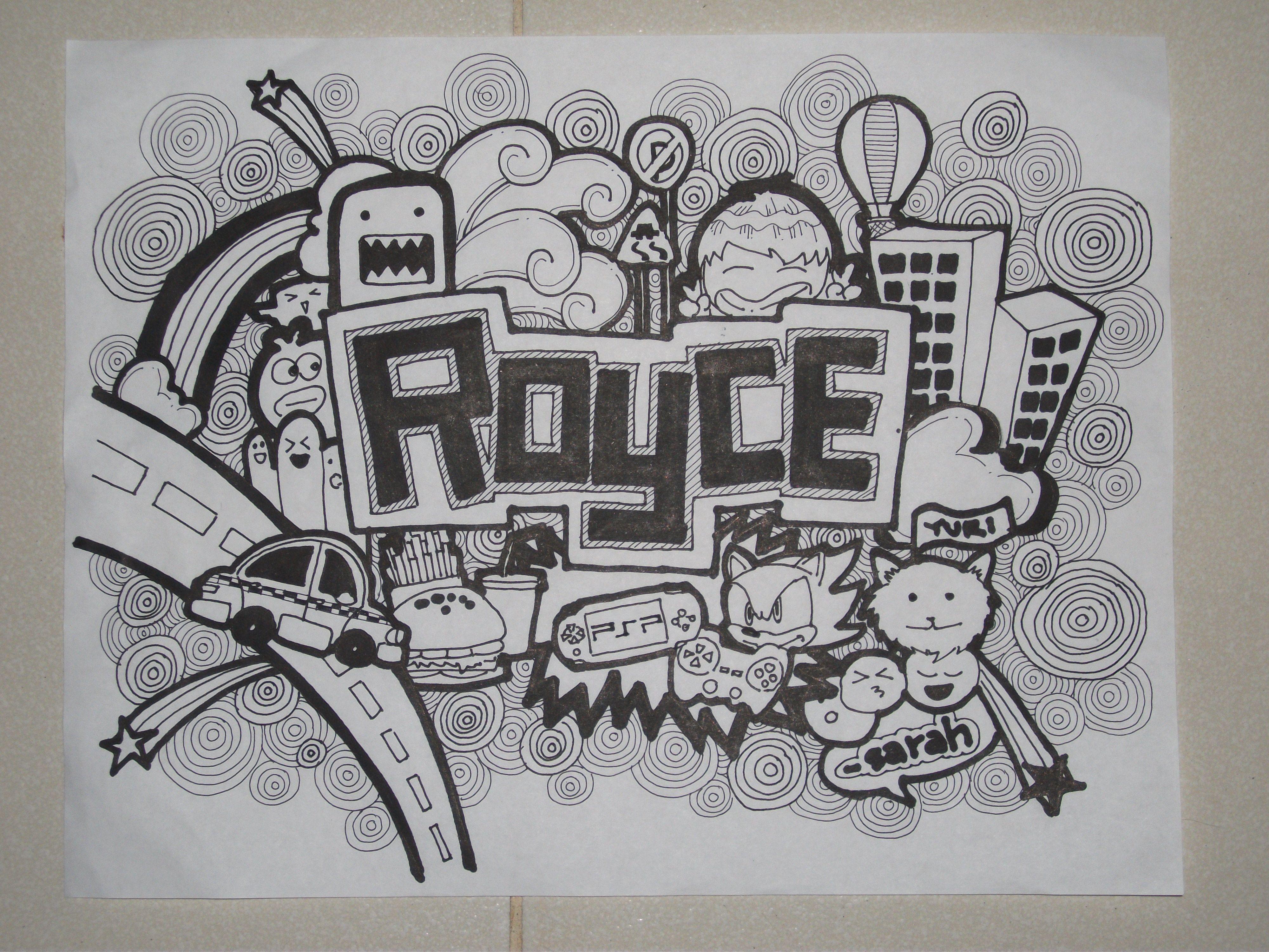 Images For Doodle Art Lettering Names