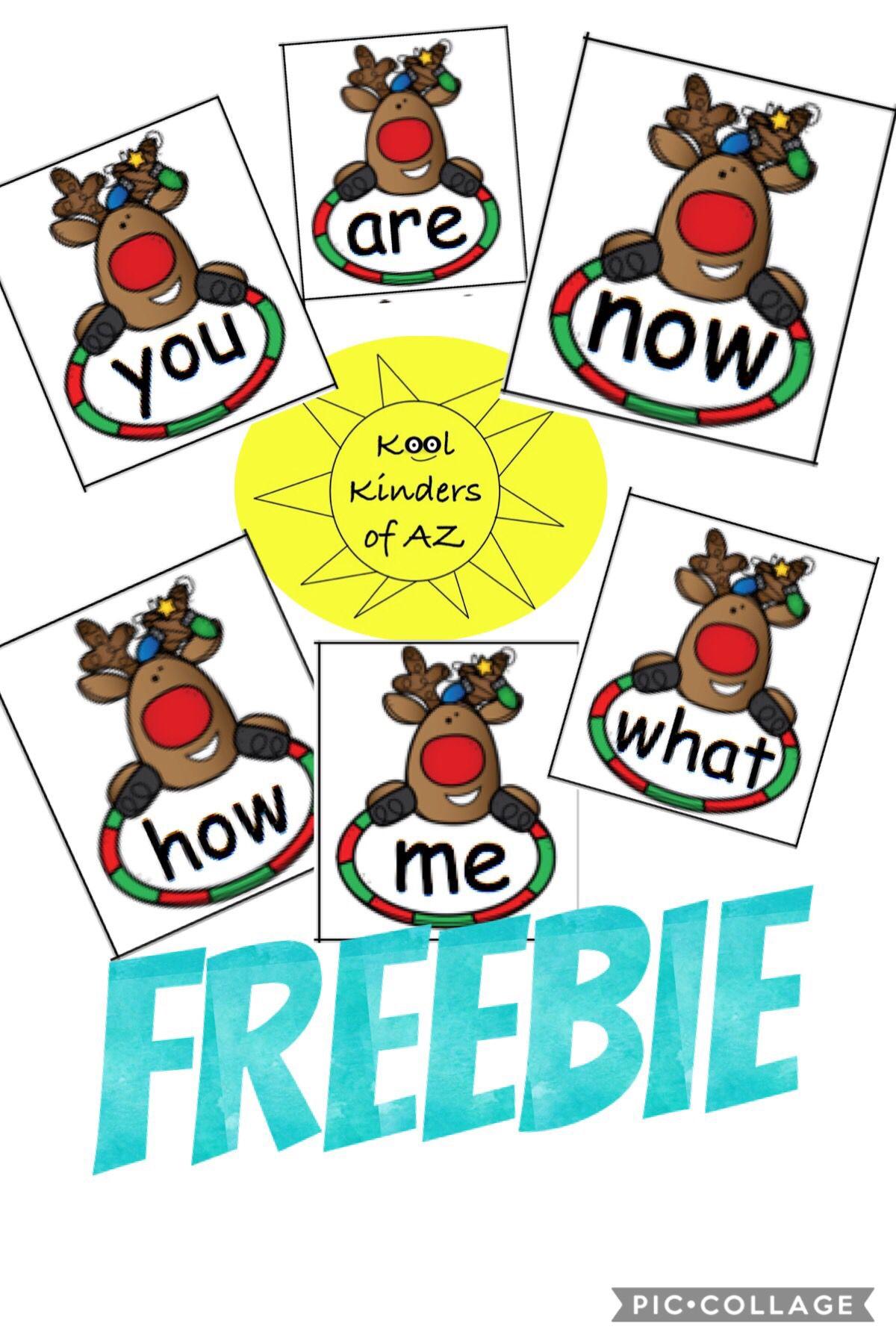 Reindeer Hfw Sight Word Card Freebie