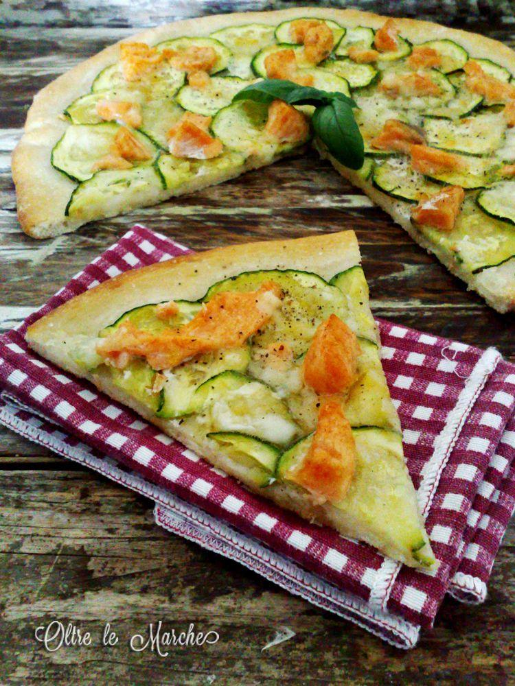 pizza con zucchine e salmone | pizza and in - Cucinare Pizza