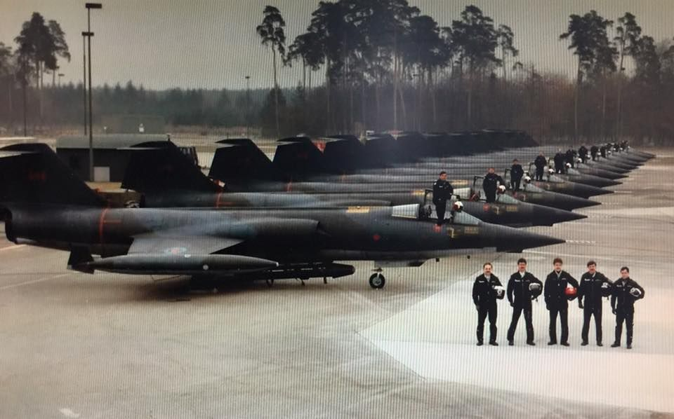 """CFB Baden Solingen, Germany, middle 1980's #441 """"Silver Foxes"""" RCAF's last F-104 Starfighter squadron."""