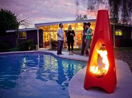 Cool outdoor fireplace from Modfire