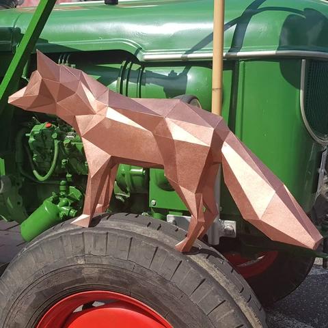 Fox in 2020   Paper animals, Paper sculpture, Paper crafts