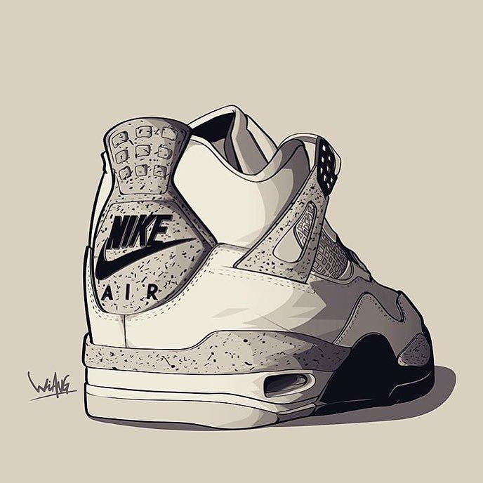 jordan shoes image sketches for painting 758966