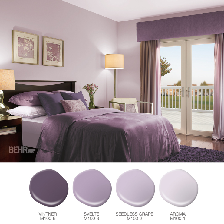 A Big Night for Color   Bedroom wall colors, Purple master ...