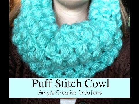 Crochet Puff Stitch Cowl Tutorial - YouTube … | Pinterest