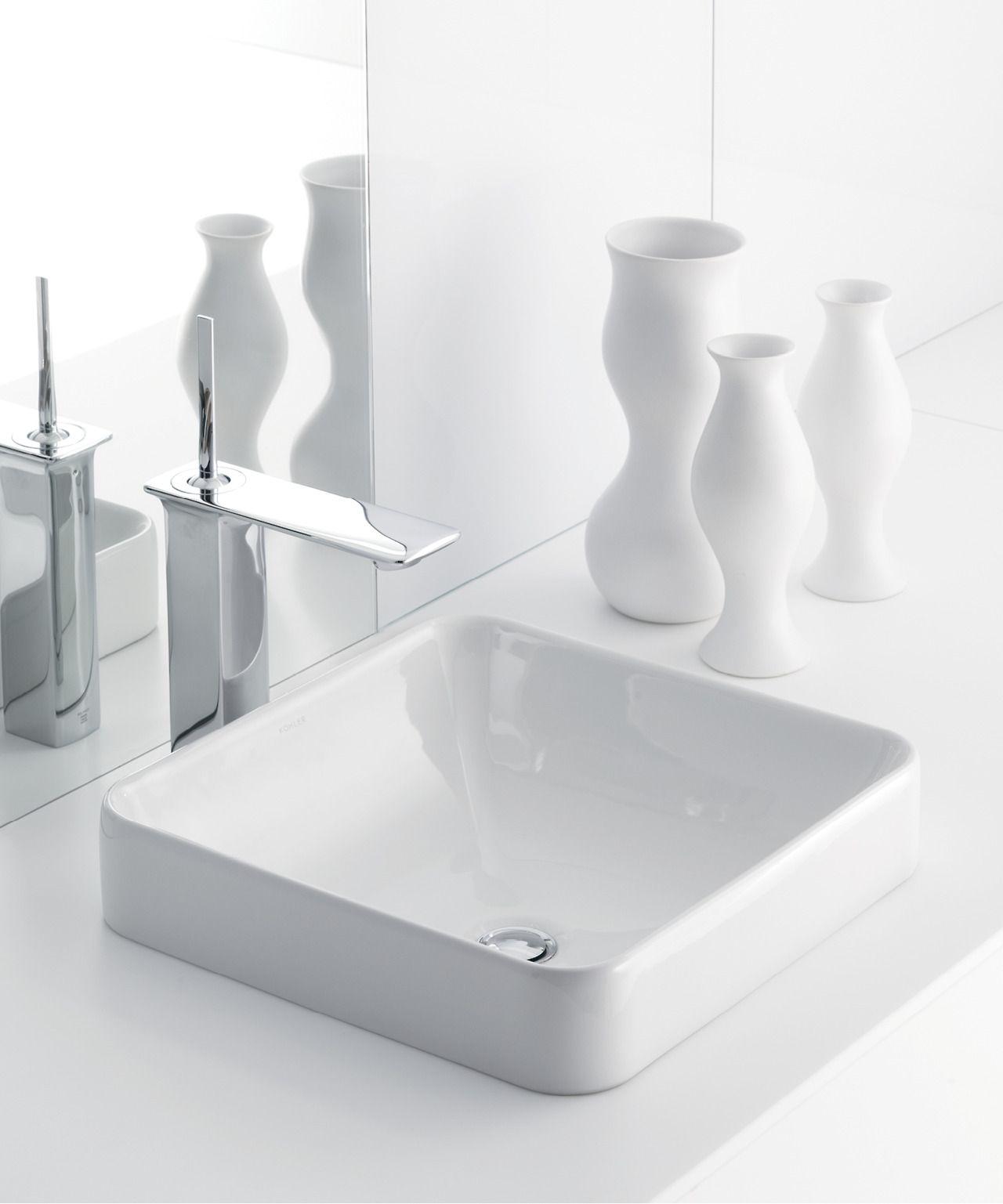 Bold Ideas From Kohler Square Bathroom Sink Bathroom Sink Square Sink