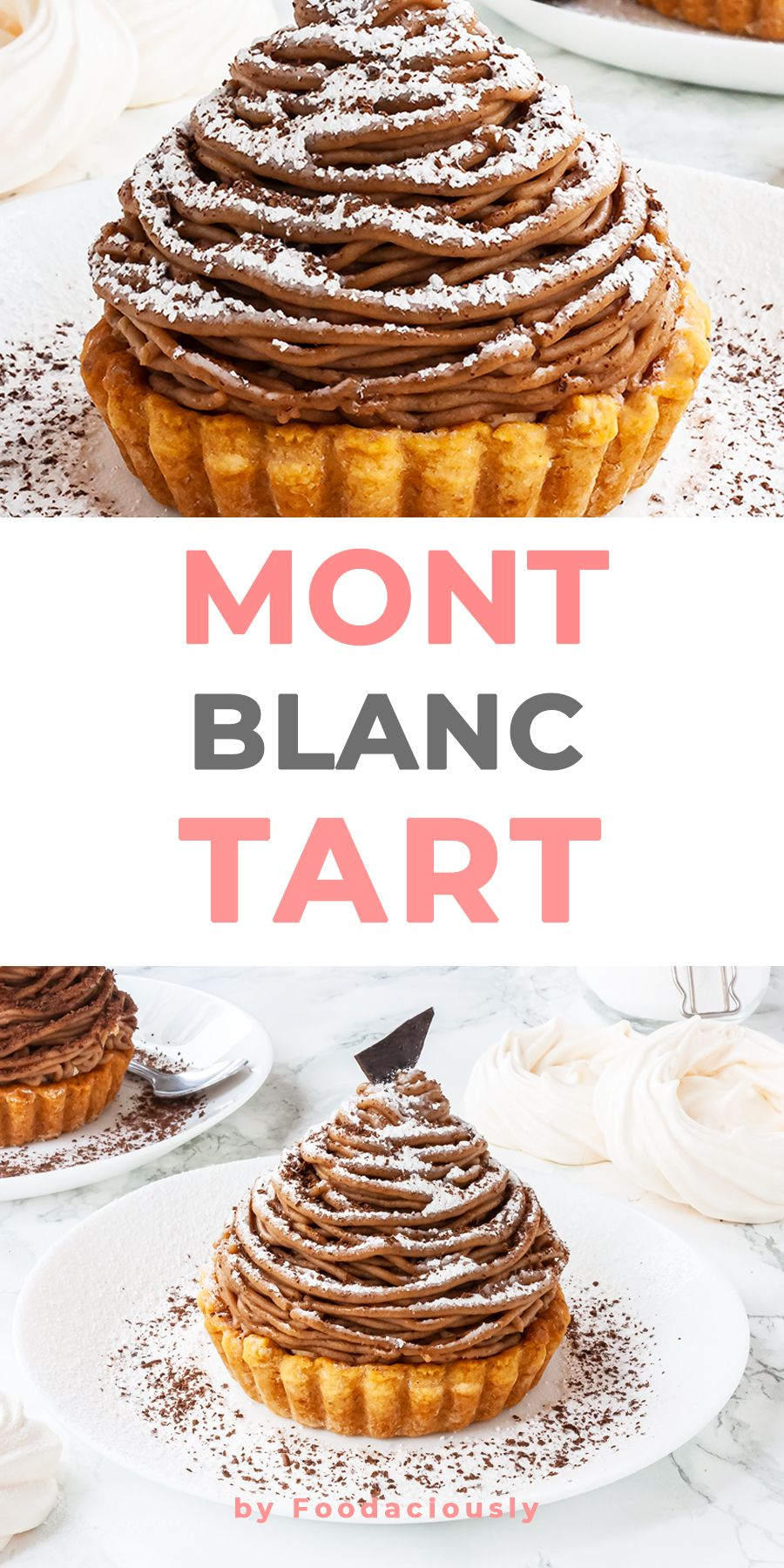 Mont Blanc Tart #montblancrecette