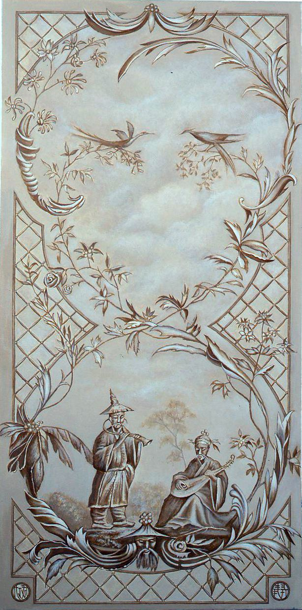 Graham Rust Inspired Grisaille Panel 70 X 24 K And P