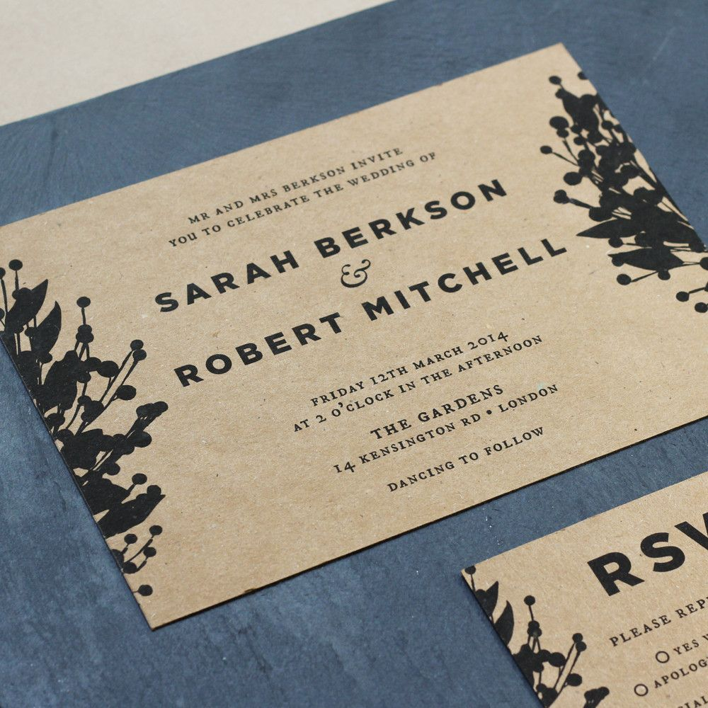 Traditional floral wedding invites | Old English Company | Old ...