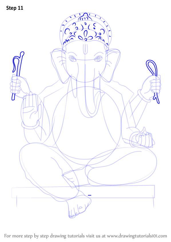 Learn How To Draw Ganpati Bappa Hinduism Step By Step Drawing Tutorials Drawings Drawing Tutorial Ganpati Bappa