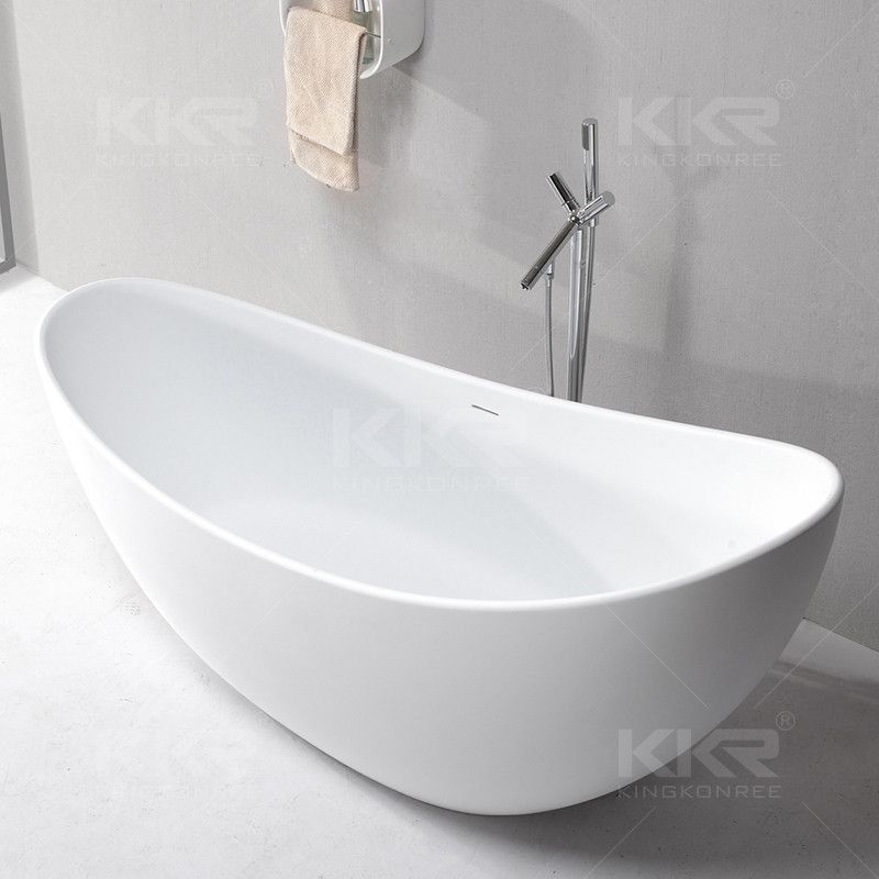 Sanitary Ware Cheap Round Freestanding Acrylic Solid Surface Stone ...