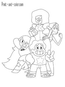Steven Universe STEVEN UNIVERSE COLORING PAGES Pinterest