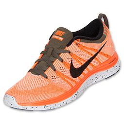finest selection 8fb87 f1e9b ... new style womens nike flyknit lunar 1 running shoes finishline total  orange black sail tarp green
