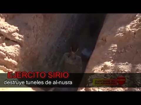 EJERCITO SIRIO - destruye tunes de al-nusra - BOLAZOmedia