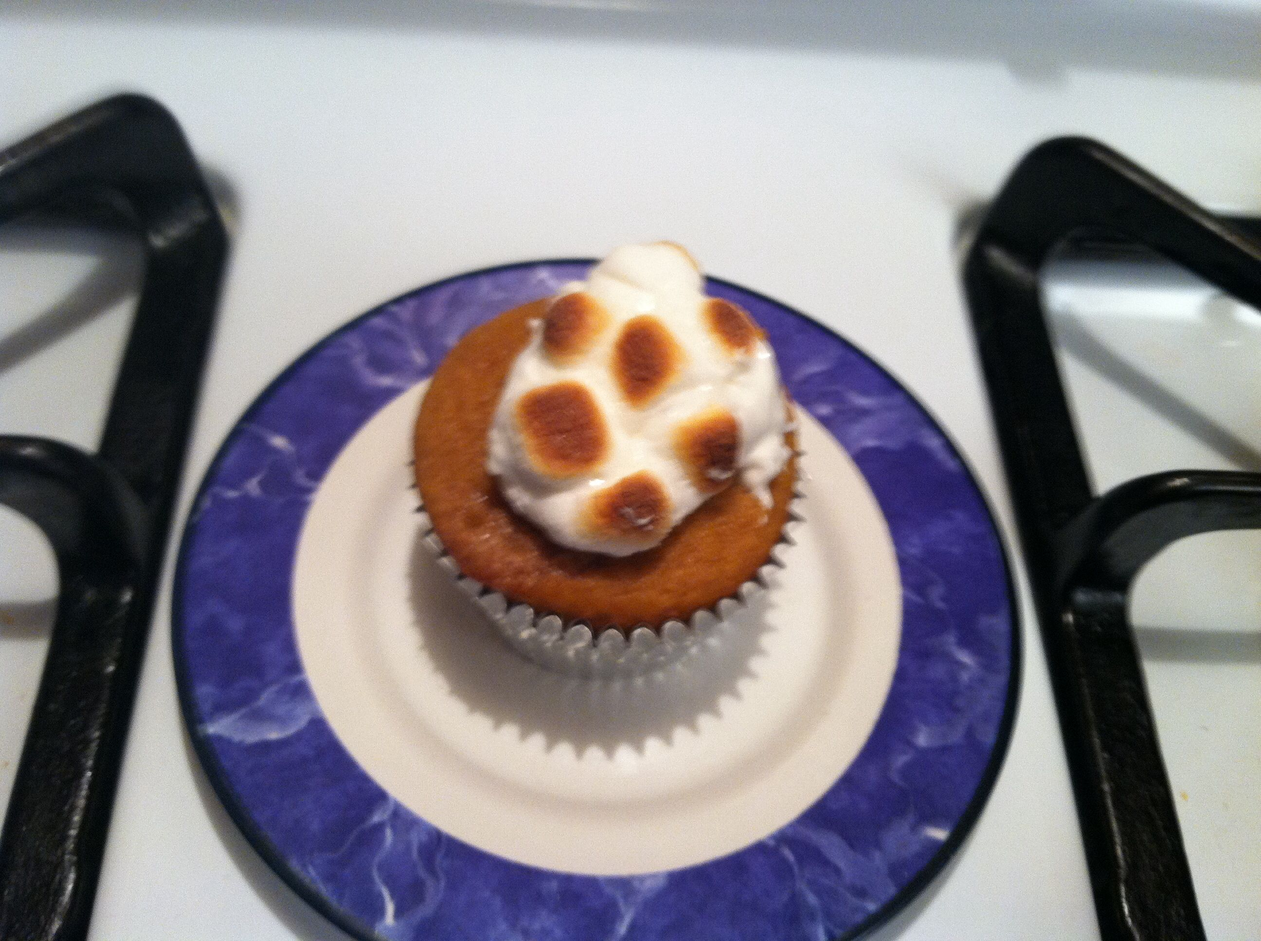 Sweet Potato cupcake w/ toasted marshmallow topping