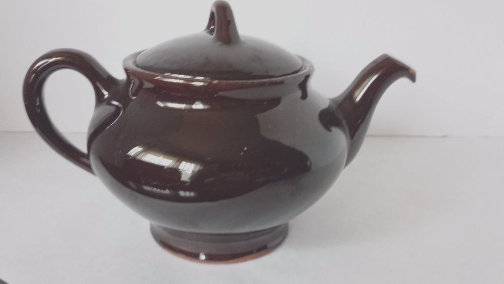 Vintage Royal Canadian Art Pottery 5 00 Teapot Hamilton Brown Glaze Tea Pots Pottery Art Canadian Art