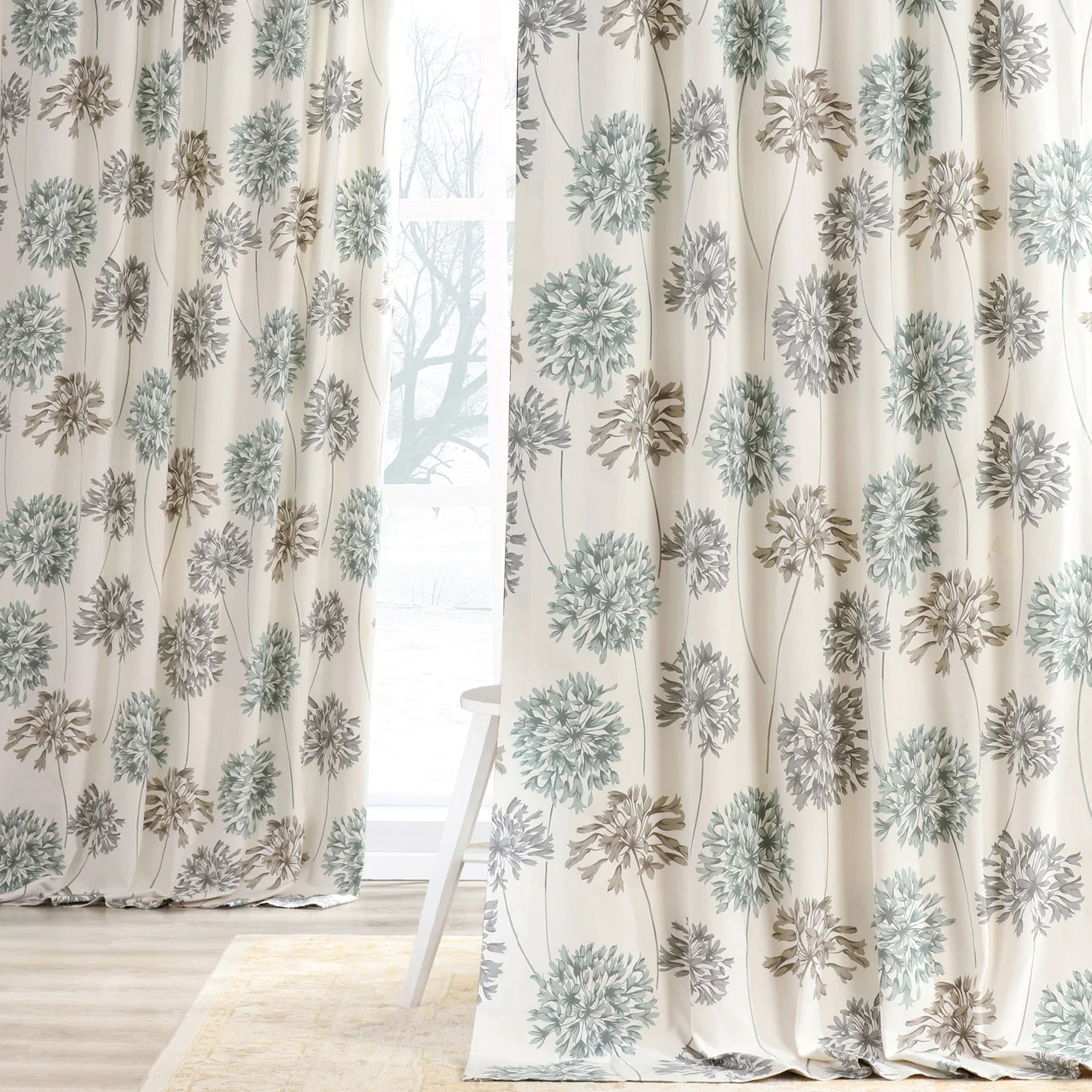 Picking The Perfect Pattern For Your New Curtains Is Just As Important As Picking The Right Color And In 2020 Half Price Drapes Printed Cotton Curtain Floral Curtains