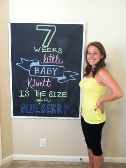7 weeks - pregnancy chalkboard (little baby garvin ...