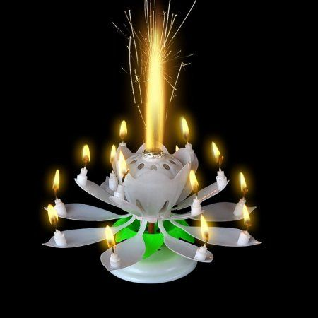 Magic Blooming Lotus Flower Birthday Candle