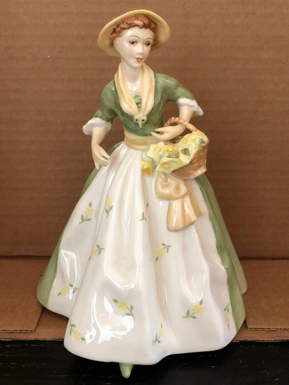 1982 Royal Worcester Porcelain Spring Morn Lady Figurine 7 Tall F G Doughty Ebay In 2020 Lady Porcelain Figurines