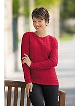 Soft Spun® Cable Sweater | Drapers