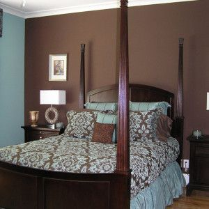 Blue Brown Paint Bedroom With Grey Checkerboard Accent Blue And Room Redo Ideas