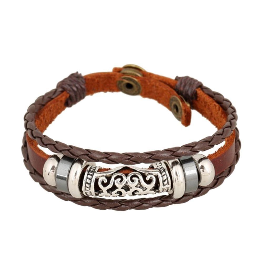 Unisex leather bracelet u bangles jewelry unisex and products