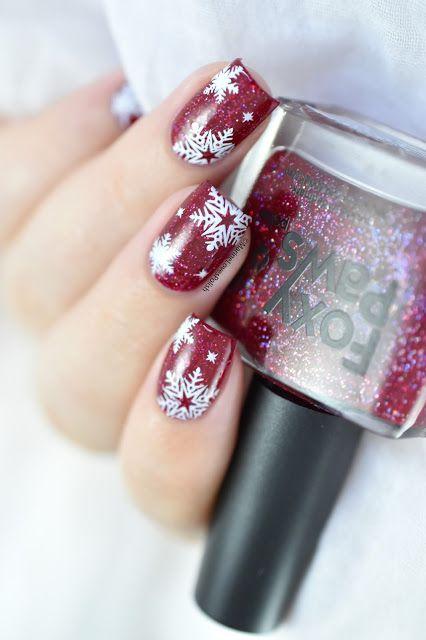 143  Marine Loves Polish: Nailstorming - C'est l'hiver [Christmas Snowflakes Nail Art // VIDEO TUTORIAL]