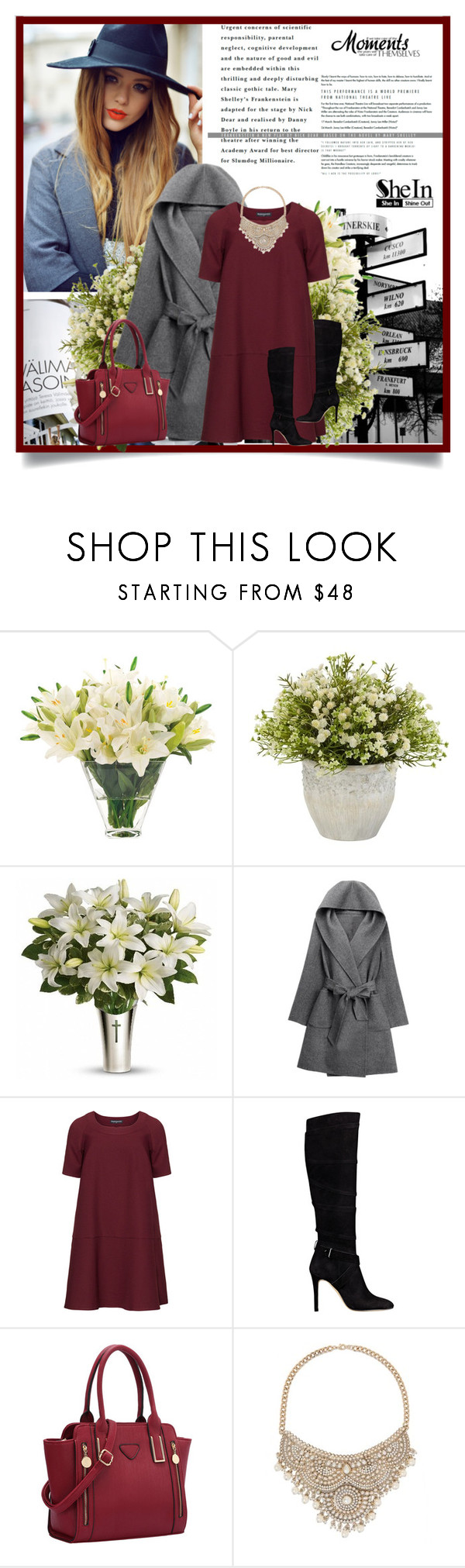 """Shein"" by neyra11 ❤ liked on Polyvore featuring NDI, Nearly Natural, WithChic, Manon Baptiste, GUESS, Bebe and plus size dresses"