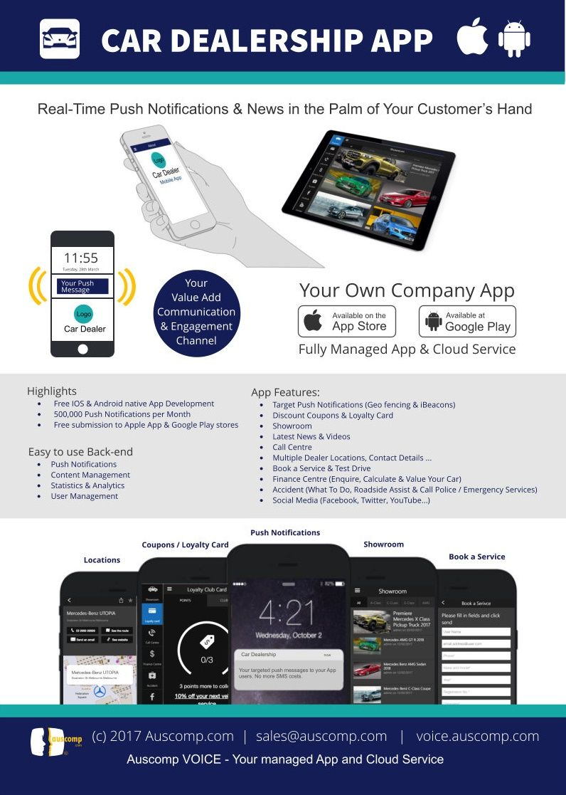 Car Dealership App Showroom Loyalty Card Call Center