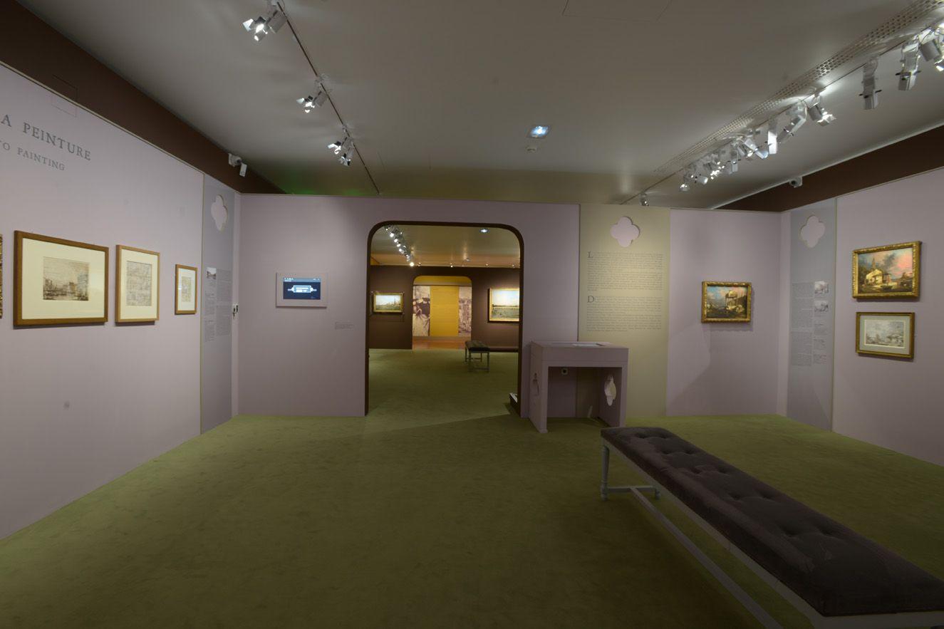 Salle 7 : Du dessin à la peinture ©C.Duranti expo-canaletto.com/