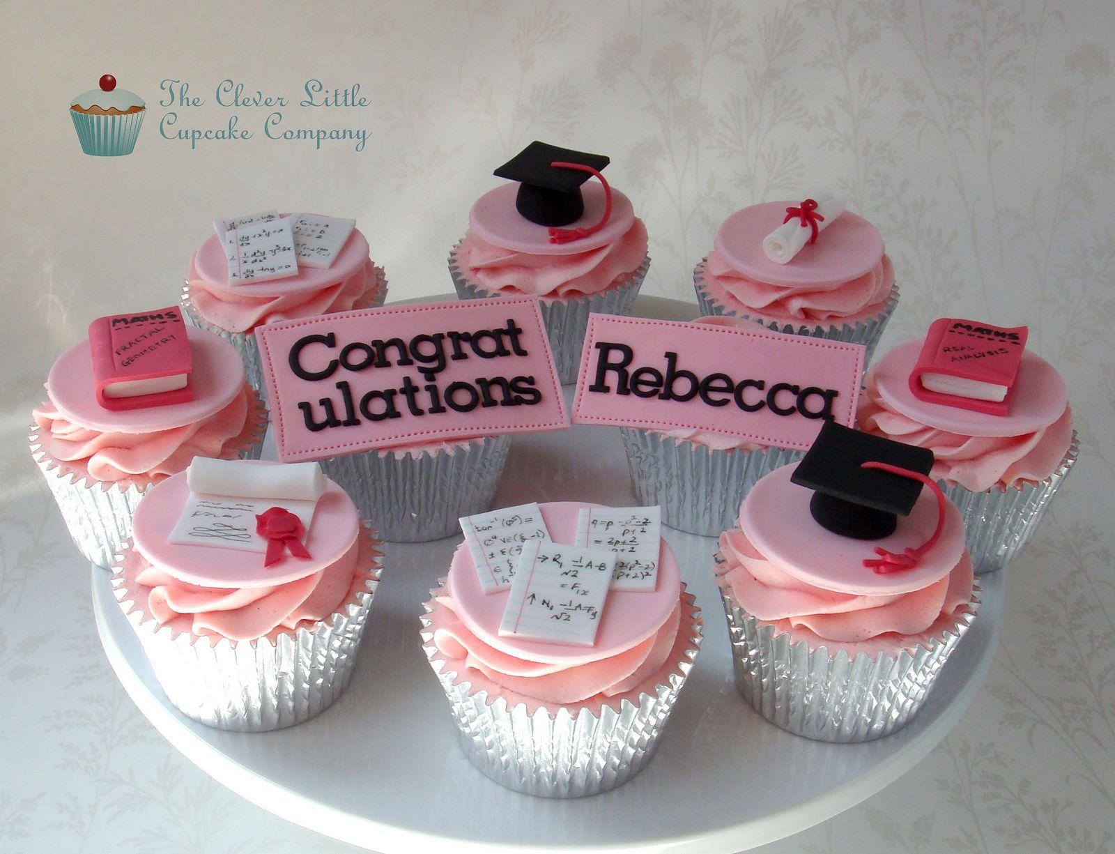 Pink Graduation Cupcakes Graduation Cupcakes