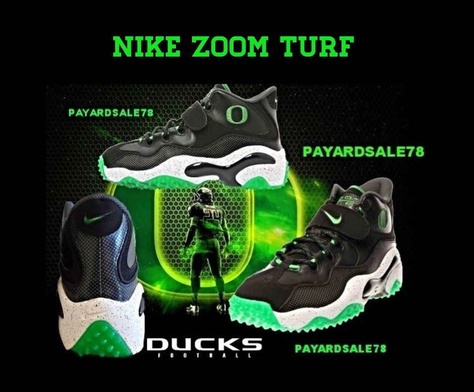 58e7e46394 NIKE ZOOM TURF OREGON DUCKS COLLEGE FOOTBALL SNEAKERS SIZE 8.5 ZOOM AIR NEW  MEN #Nike #AthleticSneakers