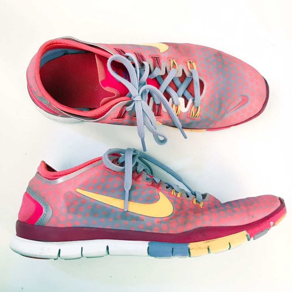 bc2f44f8e7066 ... australia nike free tr connect 2 polka dot athletic tennis shoes red  orange pink 8.5 e10