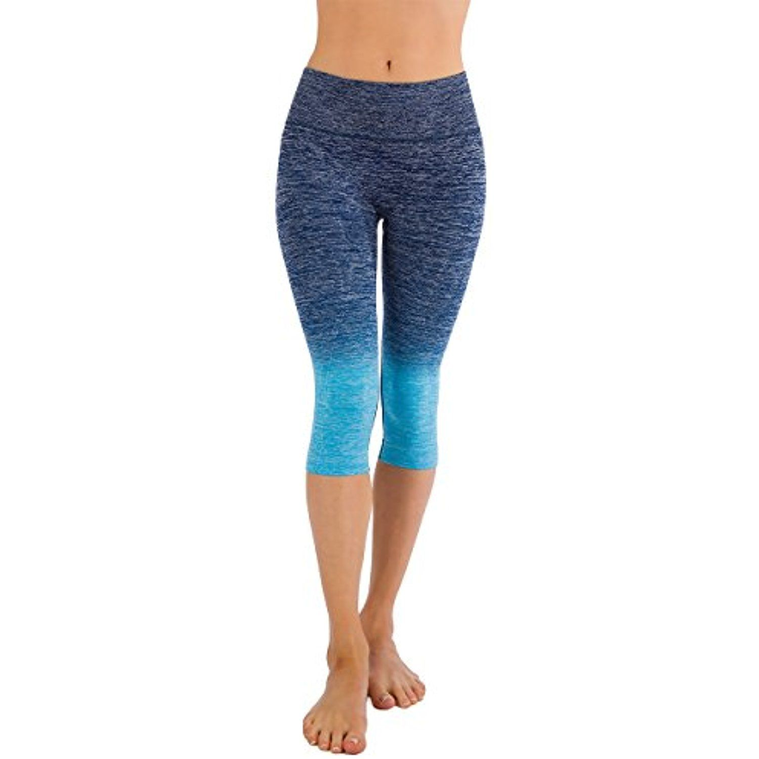 a749715ab7 Homma Women's Premium Ombre Active Workout Cropped Yoga Leggings Running  Pants ** See this great product. (This is an affiliate link) #Pants