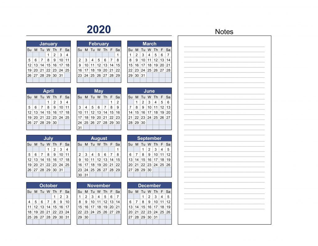 Our Printable Calendar in 2020 Printable calendar