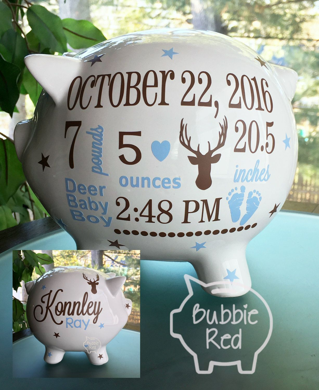 Personalized piggy bank baby boy piggy bank outdoor baby moose personalized piggy bank baby boy piggy bank outdoor baby moose baby boy gift negle Choice Image