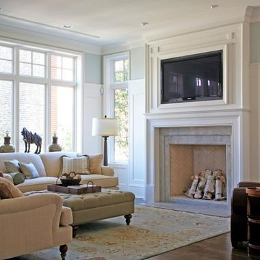 Another example tv over fireplace design ideas pictures - Over the fireplace decor ...
