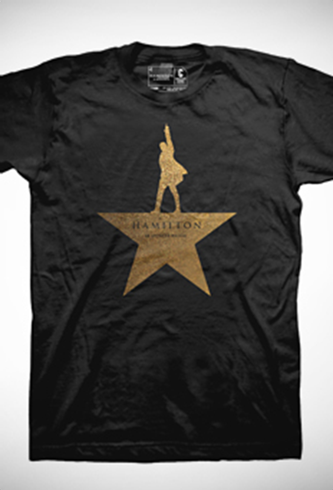 Hamilton The Broadway Musical Gold Star Show Tee Hamilton Shirt Hamilton Merchandise Musicals