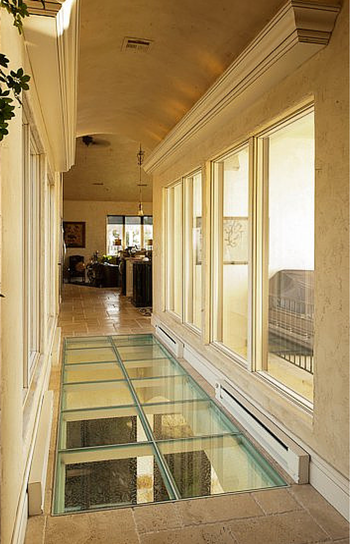 How to make a glass floor or steps safe and private 5 for Glass deck floor
