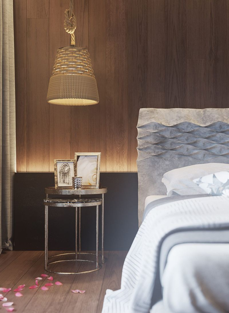 Design Inspiration Holzwande Im Schlafzimmer Einrichtungsideen