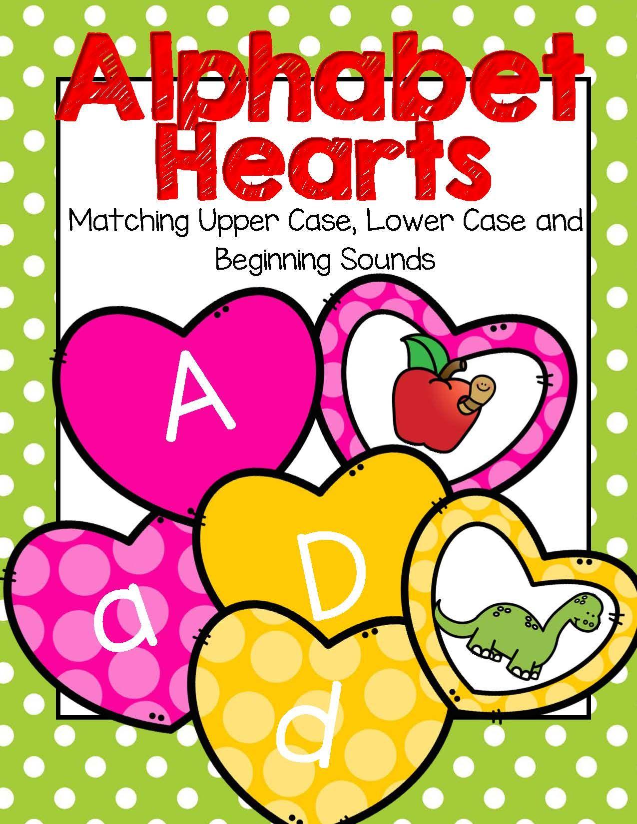 Alphabet Hearts - Matching Upper Case, Lower Case and Beginning ...