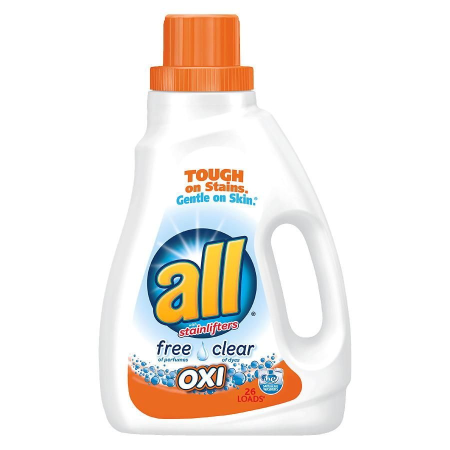 All Liquid Detergent Free Clear Oxi With Images Laundry