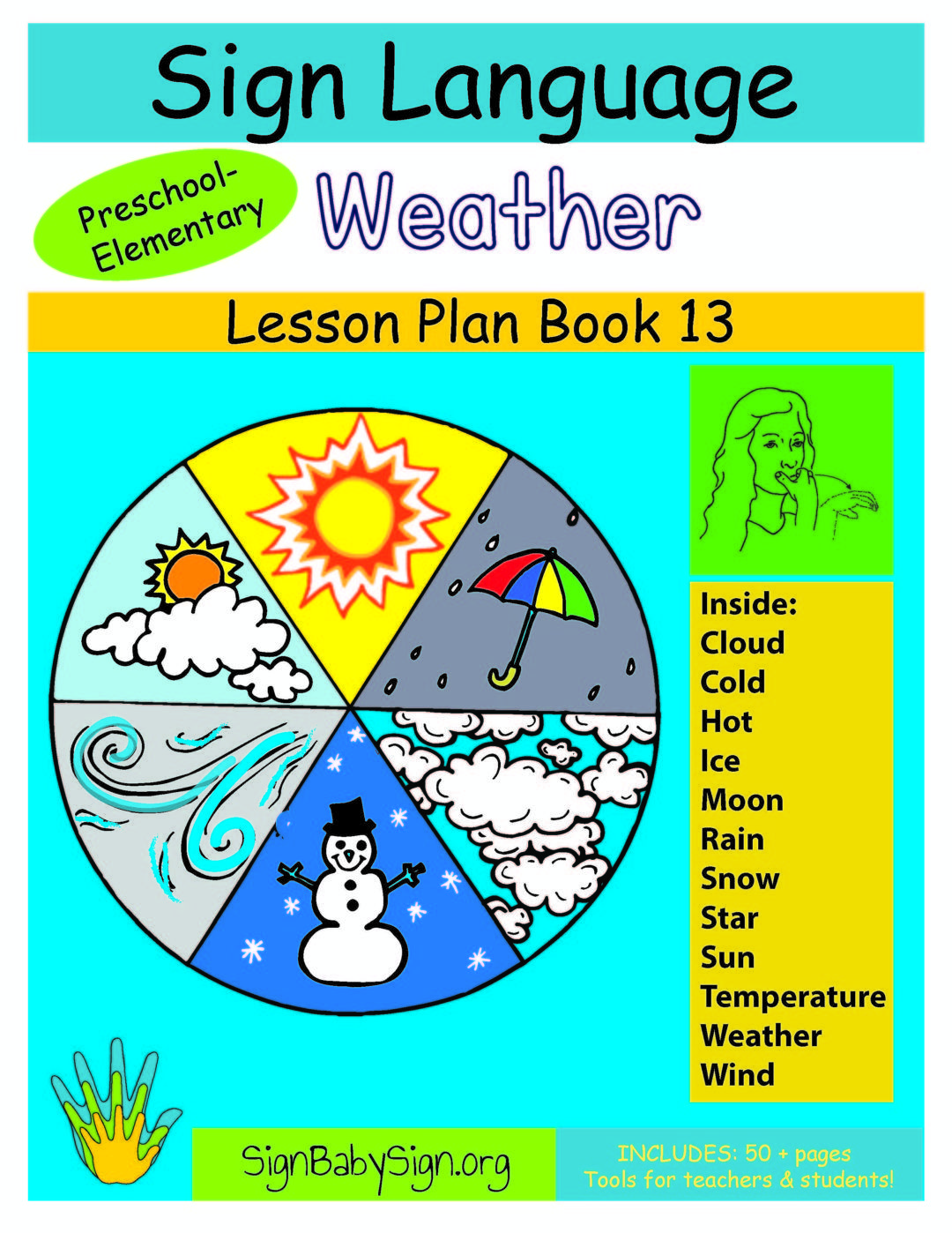 13 Asl Weather Lesson Plan Book For Preschool Amp Elementary